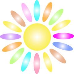 Разноцветное солнышко
