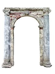 Obraz old stone arch isolated on white background - fototapety do salonu