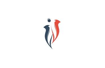 human abstract logo
