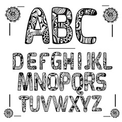Zentangle Alphabet Black