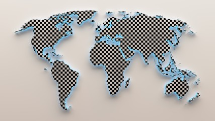 3d World chess map