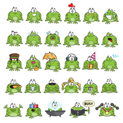 Emotional cute frogs