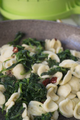 fresh orecchiette with broccoli rabe