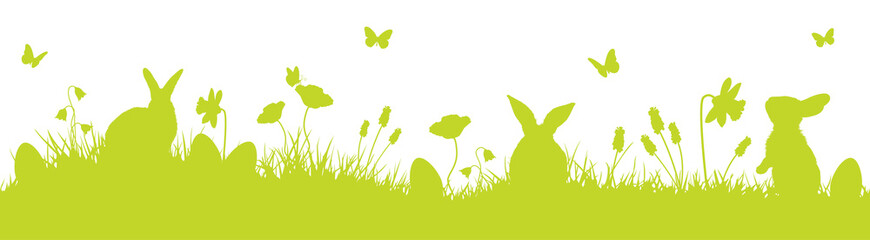 Ostern Osterhase Ostersymbol Banner Panorama