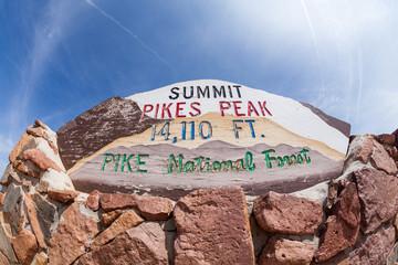 PIKES PEAK, COLORADO - AUGUST 26: Views of the Pikes Peak sig