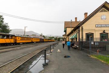 DURANGO, COLORADO - AUGUST 27: Exterior views of the historic tr