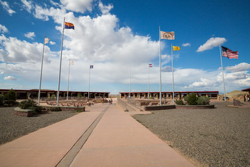FOUR CORNERS MONUMENT, USA - AUGUST 27: Views of the Four Corner