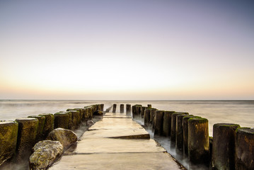 Morze wschód słońca krajobraz morski