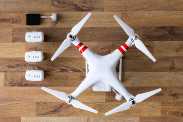 top view drone with camera.