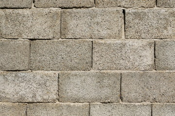 grey cinder block wall background for background or texture
