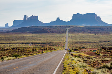Road near Monument Valley in Utah