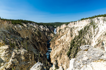 Lower Yellowstone Falls in the Yellowstone National Park, USA