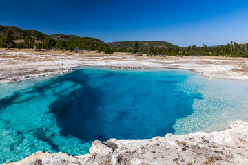 Sapphire Pool in Yellowstone National Park, USA
