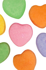 Blank Valentine Heart Candies Isolated