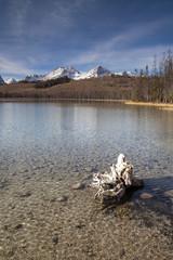 Wall Mural - Redfish Lake Water Reflection Sun Valley Idaho Sawtooth Mountain
