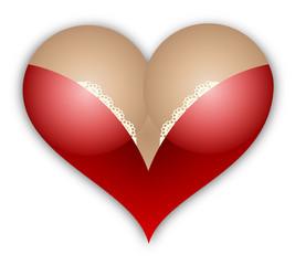 Female breast heart