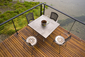 Deck Table on the Water