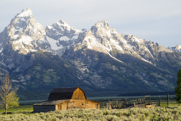 Famous historic barn in The GRand Tetons.