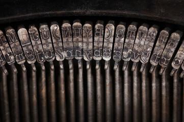 Types of vintage typewriter close-up