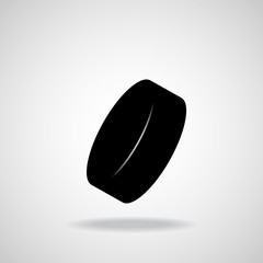 Hockey puck. Vector
