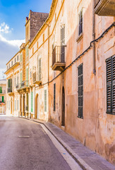 Wall Mural - View of a old mediterranean street