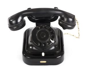old telephone black