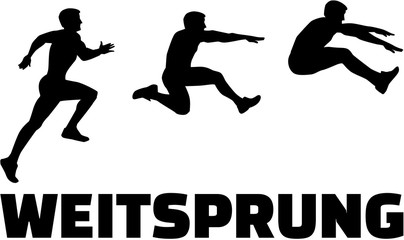 Long Jump sequence with german word
