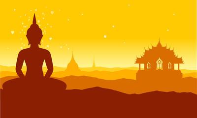 buddha thai temple brown