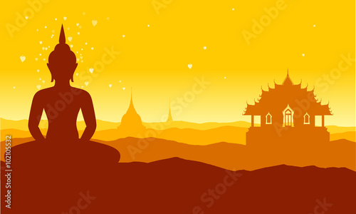 """""""buddha thai temple brown"""" Stock image and royalty-free ..."""