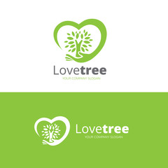 Love Tree logo,vector logo template