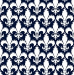 Retro artistic vector seamless pattern with decorative black