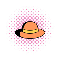 Hipster hat comics icon