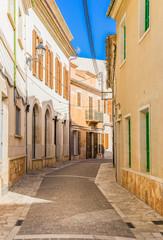 Wall Mural - Alleyway of an mediterranean old town
