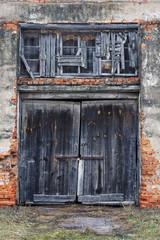 Старые амбарные ворота