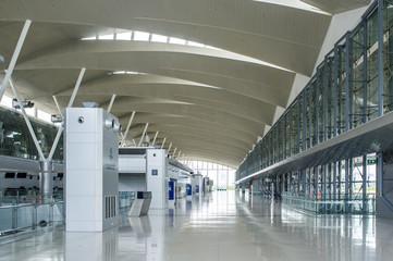 modern airport terminal interior