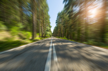 Alta velocidad en la carretera