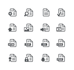 Documents Icons 1 -- Utility Series