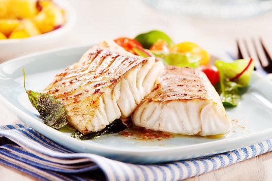 Delicious fillets of pollock or coalfish