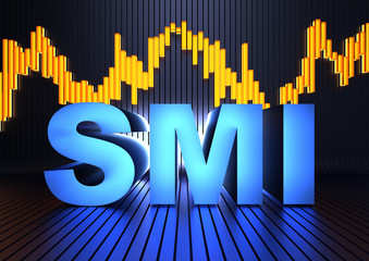 SMI acronym - Swiss Market Index (Switzerland's blue-chip stock market index)