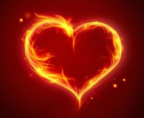 bright fiery heart