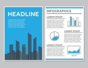 Creative Brochure Template Design with infographic chart