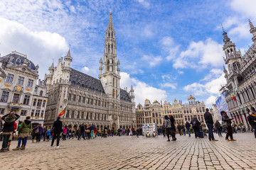 Foto op Plexiglas Brussel Grand place in summer Brussels,Belgium