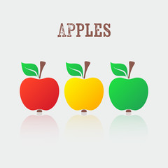 Vector apple icons