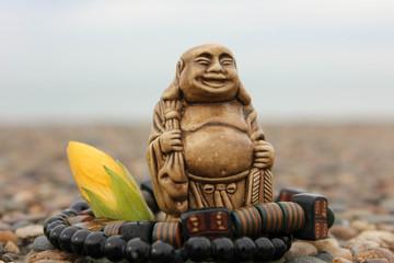 Bracelet stone and glass beads