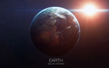 Earth - High resolution images presents planets of the solar system. This image elements furnished by NASA.