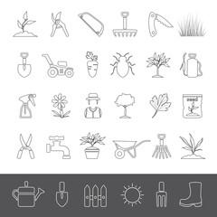 Line Icons - Gardening