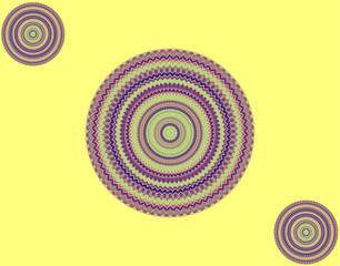 Абстрактный желтый фон с кругами.