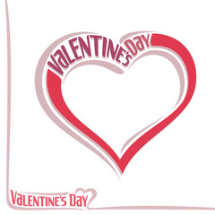 Vector illustration for text on the theme of Valentine's day