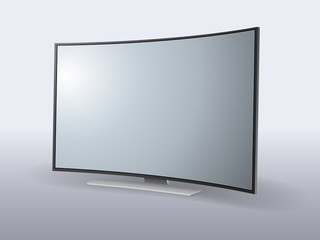 Vector curved screen. File is in eps10 format.