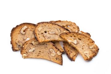 Rye bread crisps with walnuts.